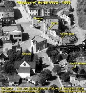 Mayberry, arial shot 1965