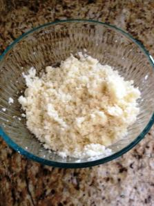 "my cauliflower ""rice"" before adding the other ingredients."